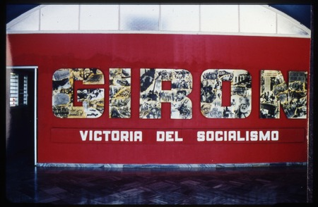 Political poster on display in Museo Giron
