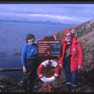 Jack Child and Leslie Morginson-Eitzen at Cape Horn [1]