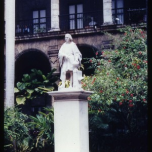 Statue of Columbus in the Museo de los Capitanes Generales in Havana, Cuba